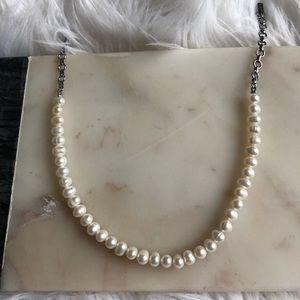Lia Sophia Infinite me Necklace- Genuine Pearls